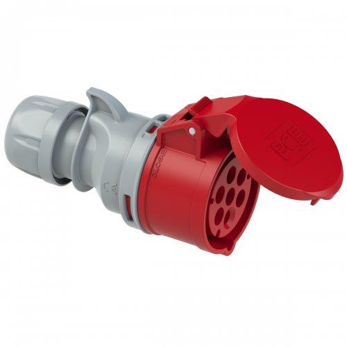 217-6v PCE Розетка кабельная 16А/400V/6P+E/IP44, никелированные контакты