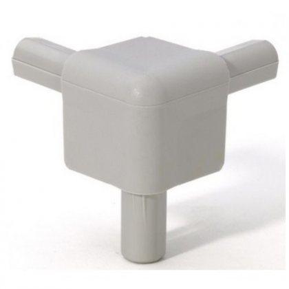 Q4506AG Adam Hall Уголок пластиковый Easy Case System, цвет серый алюминий