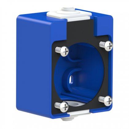 106-0 PCE Адаптер настенный для розетки серии 105-0 синий