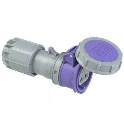 2722v PCE Розетка кабельная 32А/24V/2Р/IP67, никелированные контакты