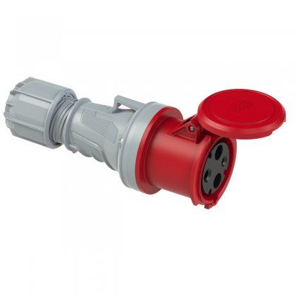 2331-9 PCE Розетка кабельная 63А/400V/1P+N+E/IP44