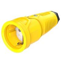 2510-esw PCE Розетка каб 16A/250V/2P+E/IP20 корпус желтый, маркер черный