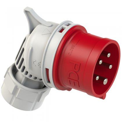 7415-6 PCE Вилка кабельная фазоинвертор, угловая 16А/400V/3P+N+E/IP44