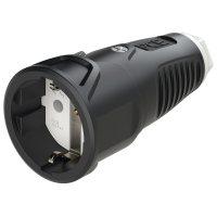 2510-sw PCE Розетка кабельная 16A/250V/2P+E/IP20 корпус черный, маркер белый