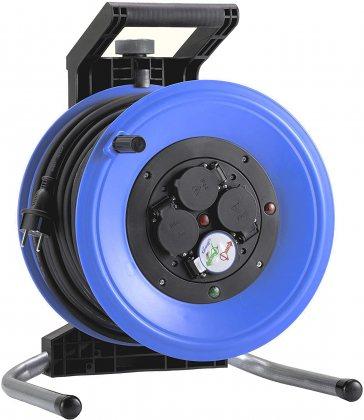 K350N2TF HEDI Удлинитель на катушке из пластика D=320мм/4GS/IP44/50м H07RN-F3G2,5/термозащита