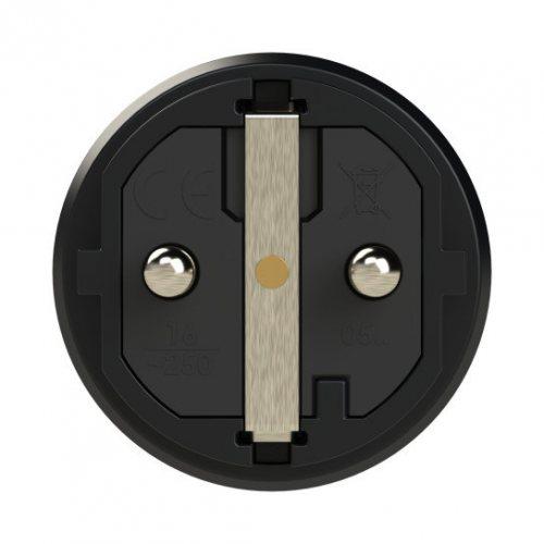 0512-sr PCE Вилка кабельная 16А/250V/2P+E/IP54 корпус черный, маркер красный