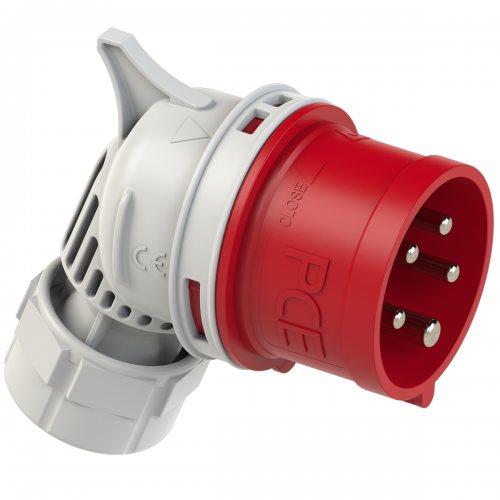 7425-6 PCE Вилка кабельная фазоинвертор, угловая 32А/400V/3P+N+E/IP44