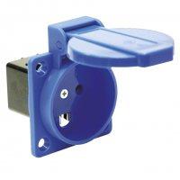 1030-0b PCE Розетка встраиваемая 16А/250V/2P+E/IP54 синяяя стандарт Дания/Англия