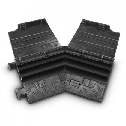 85210BLKL AdamHall  Угловой семент 45° для Defender MINI 85200, 3-канальный, левый, черная крышка