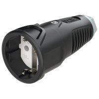 2510-sdg PCE Розетка кабельная 16A/250V/2P+E/IP20 корпус черный, маркер серый