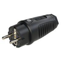 0522-ss PCE Вилка кабельная 16А/250V/2P+E/IP54 корпус черный, маркер черный