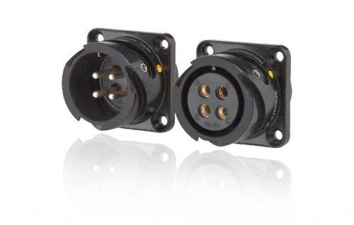 SPK04FP-SST SPK 04 pin розетка панельная, покрытие контактов серебро, под пайку, контакты вставлены