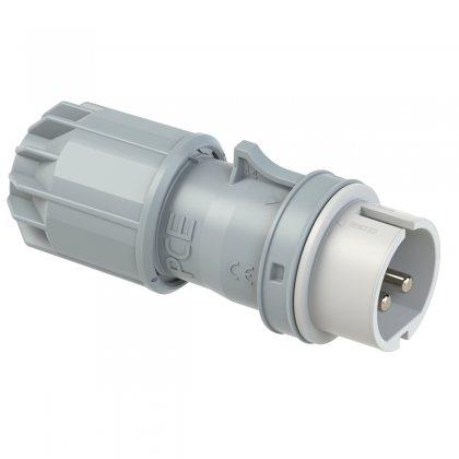 092-12v PCE Вилка кабельная 32А/42V/2P/IP44, никелированные контакты