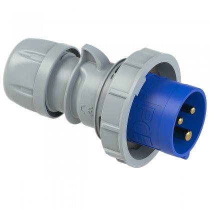 0232-6tt PCE Вилка кабельная 32А/230V/1P+N+E/IP67, безвинтовое подключение