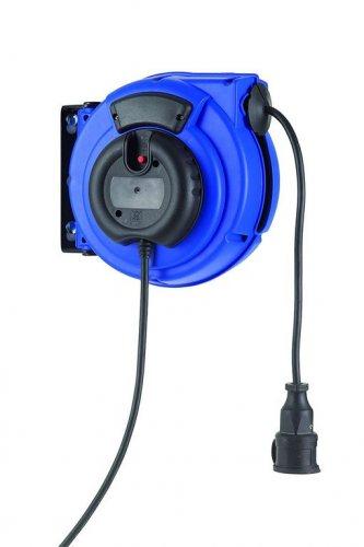 KBZ15PT HEDI Самосматывающийся удлинитель с креплением на стену/IP20/15м H05VV-F3G1,5/синий