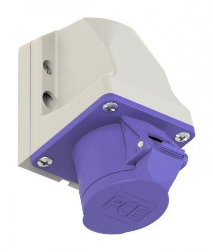162v PCE Розетка настенная 16А/24V/2P/IP44, никелированные контакты