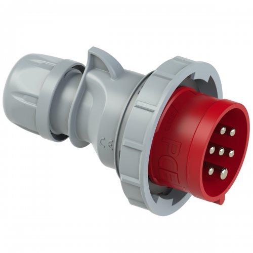 0272-6v PCE Вилка кабельная 32А/400V/6P+E/IP67, никелированные контакты