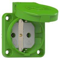 105-0u PCE Розетка встр 16А/250V/2P+E/IP54 50x50 подкл. сзади зелёная