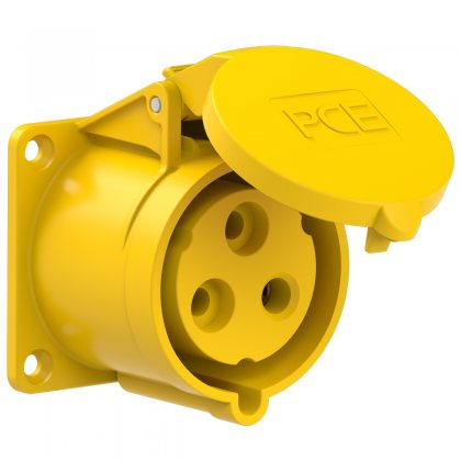 323-4 PCE Розетка встраиваемая 32А/110V/1P+N+E/IP44