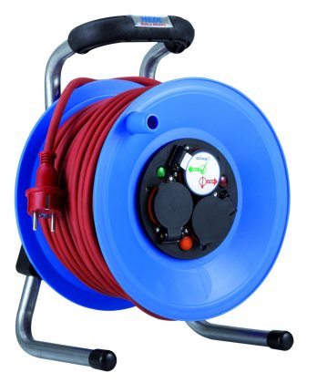 K1Y40NTF010 HEDI Удлинитель на катушке из пластика D=255мм/3GS/IP44/40м H07RN-F3G1,5красный/термозащита