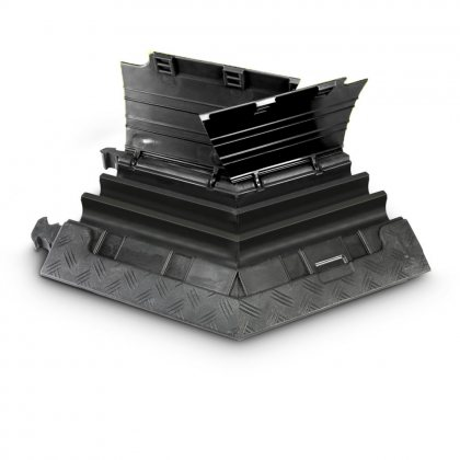 85210BLKR  AdamHall  Угловой семент 45° для Defender MINI 85200, 3-канальный, правый, черная крышка