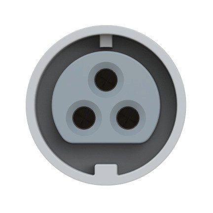 3832-12f9v PCE Розетка встраиваемая 16A/42V/2P+E/IP67, безвинтовое подключение, фланец 54x60