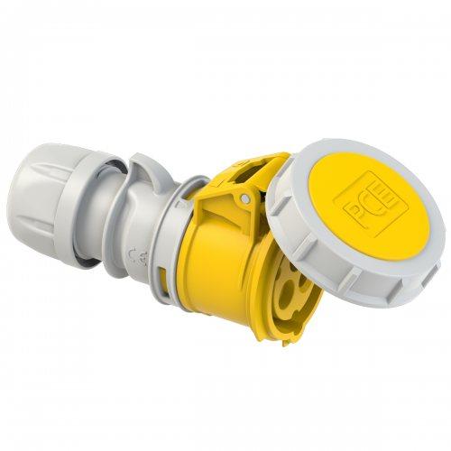 2132-4 PCE Розетка кабельная 16А/110V/1P+N+E/IP67