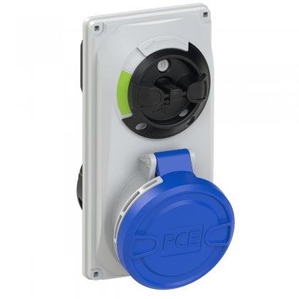 6023-6 PCE Розетка встраиваемая 32А/230V/1P+N+E/IP44, с выключателем и блокировкой