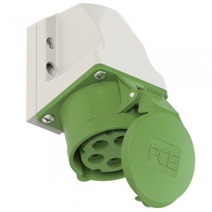 115-2k PCE Розетка настенная 16А/500V/3P+N+E/IP44