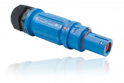 SPX4LDNBL035MQ SPX 400А вилка кабельная Neutral, синяя