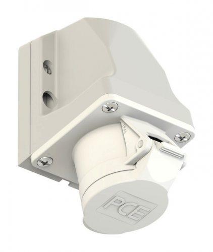 192-10v PCE Розетка настенная 32А/24-42V/2P/IP44, никелированные контакты