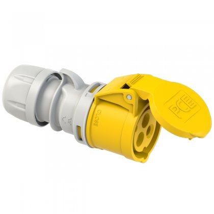 213-4 PCE Розетка кабельная 16А/110V/1P+N+E/IP44