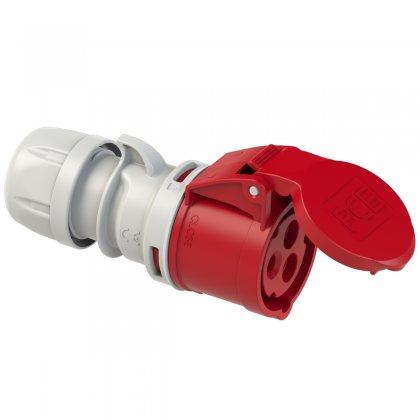223-9 PCE Розетка кабельная 32А/400V/1P+N+E/IP44