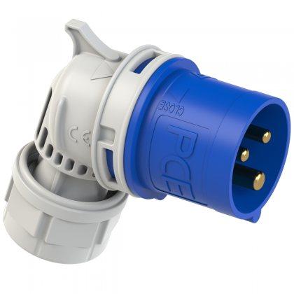 8023-6 PCE Вилка кабельная угловая 32А/230V/1P+N+E/IP44