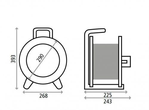 G2S000 HEDI Катушка для удлинителя из металла D=290мм