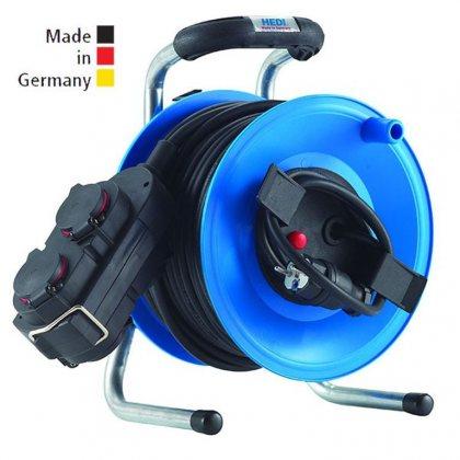 G1Y25NTK4 HEDI Удлинитель на катушке из пластика D=255мм/4GS/IP44/25м H07RN-F3G1,5/термозащита