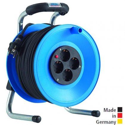 K1Y25PT HEDI Удлинитель на катушке из пластика D=255мм/4GS/IP20/25м H05VV-F3G1,5/термозащита