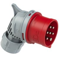 8017-6v PCE Вилка кабельная угловая 16А/400V/6P+E/IP54, никелированные контакты