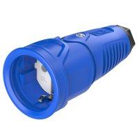 2510-bsw PCE Розетка каб 16A/250V/2P+E/IP20 корпус синий, маркер черный