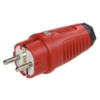 0511-rs PCE Вилка кабельная 16A/250V/2P+E/IP54 корпус красный, маркер черный
