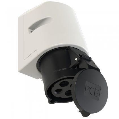 124-7 PCE Розетка настенная 32А/500V/3P+E/IP44