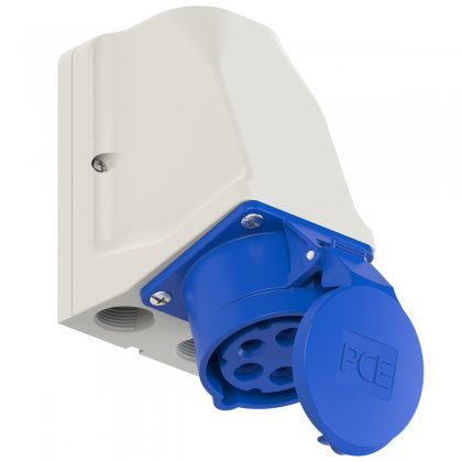 915-9 PCE Розетка настенная с дополнительными вводами 16А/230V/3P+N+E/IP44