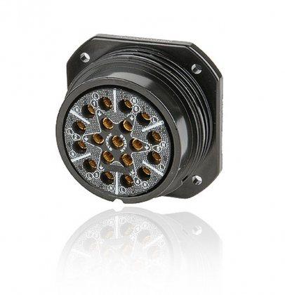 SSX19FP-SST SSX 19 pin розетка панельная, серебрянное покрытие контактов, под пайку, контакты вставлены