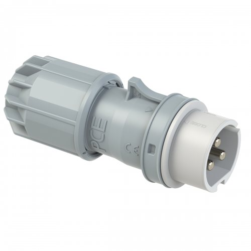 083-10v PCE Вилка кабельная 16А/24-42V/2P+E/IP44, никелированные контакты