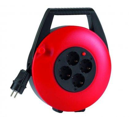 KBR15T HEDI Удлинитель на катушке (скрытый кабель)/4GS/IP20/15м H05VV-F3G1,5/красный