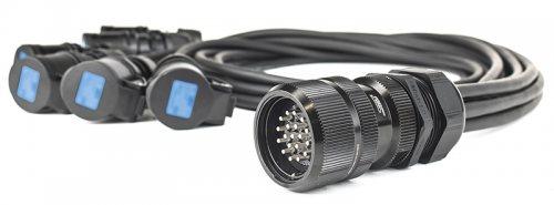 PBFSPIST1/ SP Spider Soca SP19M6FBL-015 19 pin розетка-разветвитель кабельная, 6х1,5 м H07RN-F 3G2,5