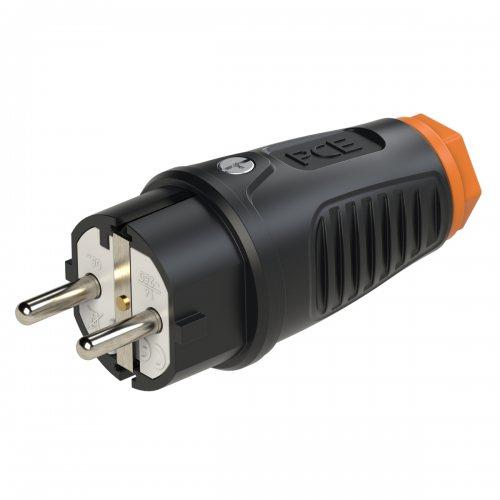 0511-so PCE Вилка кабельная 16A/250V/2P+E/IP54 корпус черный, маркер оранжевый