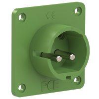 692-3v PCE Вилка встраиваемая 32A/24-42V/2P/IP44, никелированные контакты, фланец 70x70