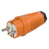0511-os PCE Вилка кабельная 16A/250V/2P+E/IP54 корпус оранжевый, маркер черный