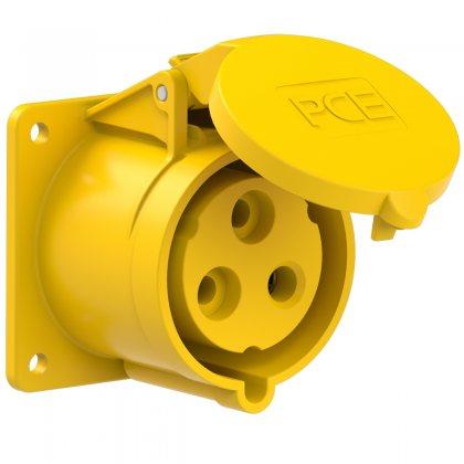 323-4f7 PCE Розетка встраиваемая 32A/110V/1P+N+E/IP44